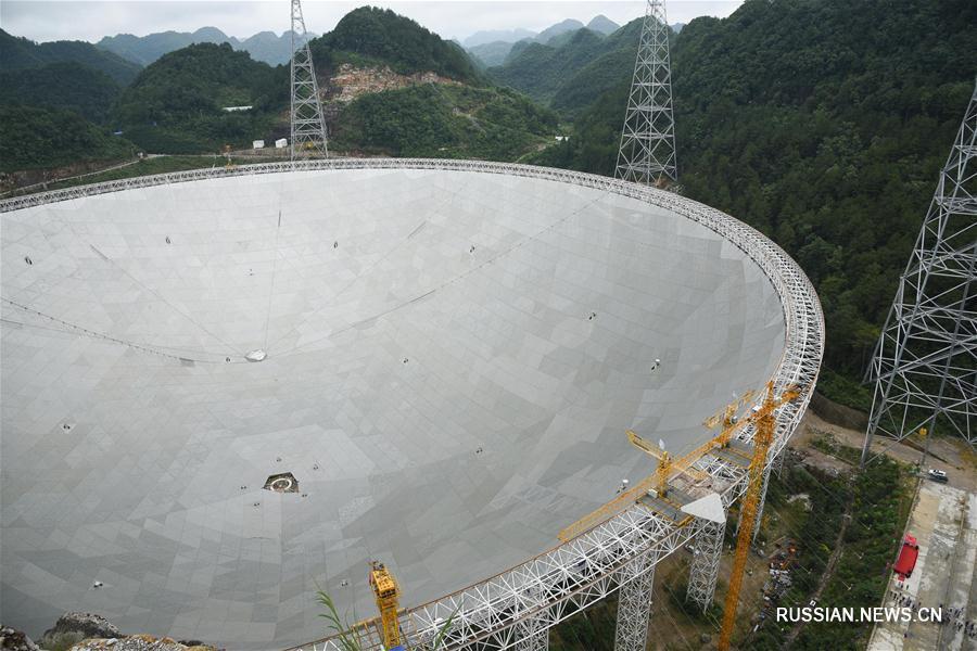 Крупнейший в мире радиотелескоп, превышающий по площади 30 футбольных полей, Китай